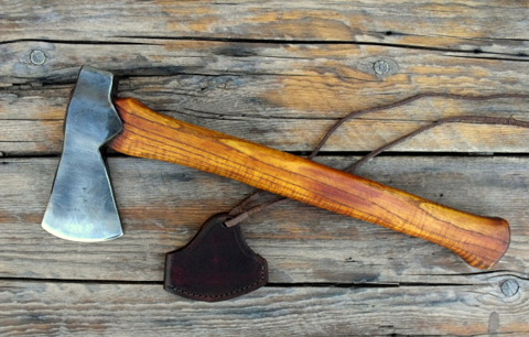 hand forged custom belt axe