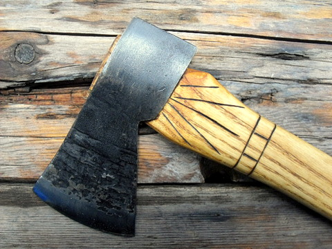 hand-forged colonial axe