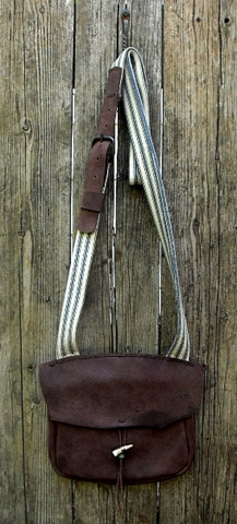 leather hunting pouch, possibles bag