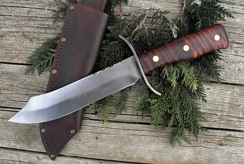 hand forged period bowie knife