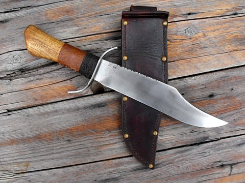 large hand forged Bowie knife