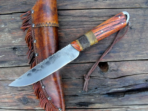 hand forged frontier trade knife