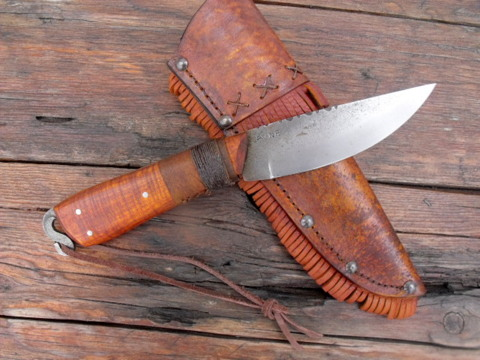 early fur trade frontier roach belly knife