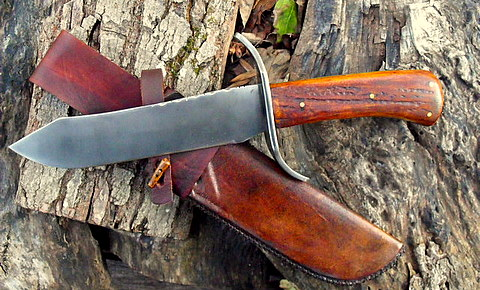 bowie knife hand forged