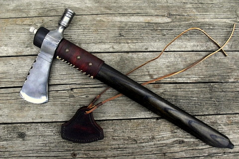 hand forged custom pipe tomahawk axe