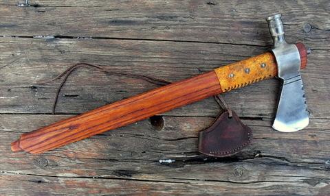 hand forged custom pipe tomahawk axe