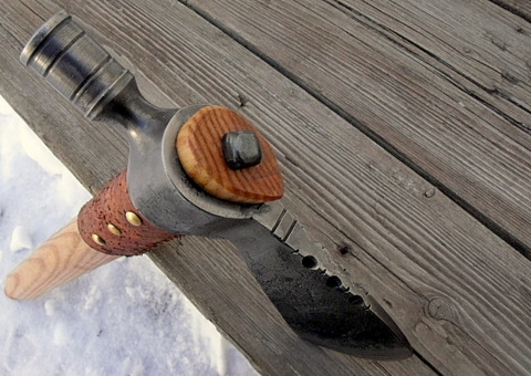 custom pipe hawk - peace pipe