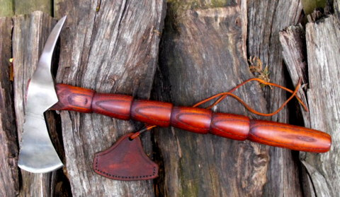 hand forged frontier spike tomahawk