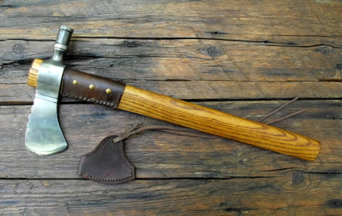 large, custom hammer poll tomahawk