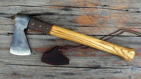 hand forged French Biscayne trade axe