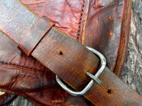 hand forged hunting bag buckle