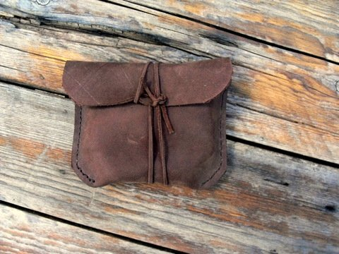 hand forged fire striker kit pouch