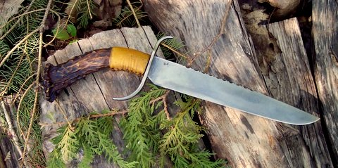 hand-forged period rifleman's knife