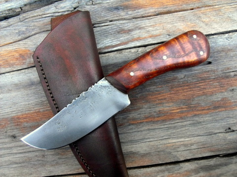 custom hand-forged skinner knife