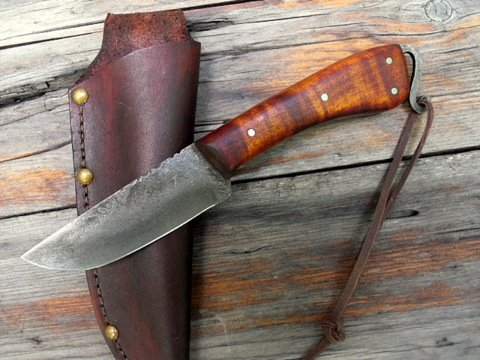 hand forged frontier trail knife