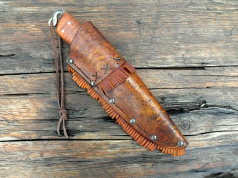 Hand forged frontier belt - trade knife