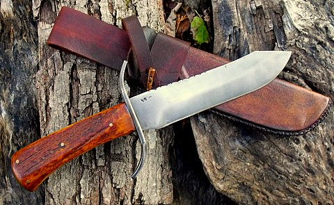 hand forged mountain man bowie knife